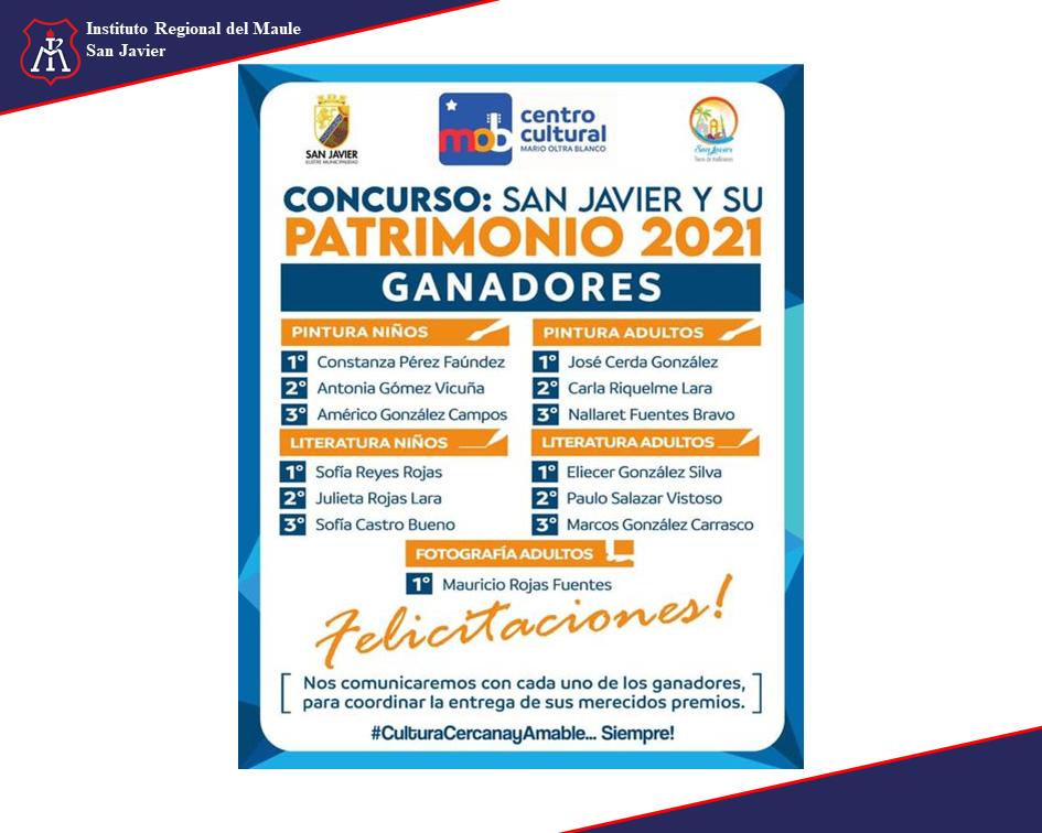 Concurso San Javier ganadores 2021